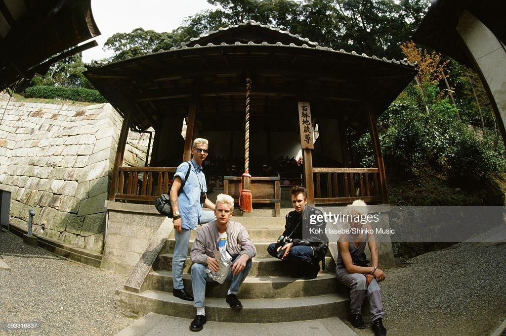 Depeche Mode group shot at Kiyomizu temple in Higashiyama Kyoto Kyoto April 1985