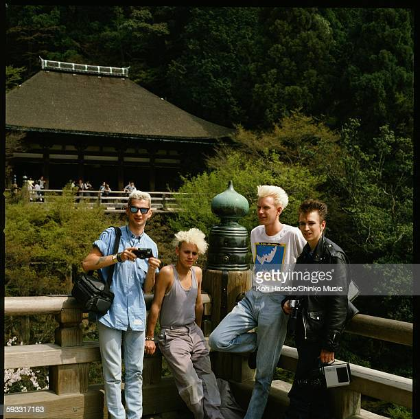 Depeche Mode group shot at Kiyomizu temple in Higashiyama Kyoto Kyoto April 1985