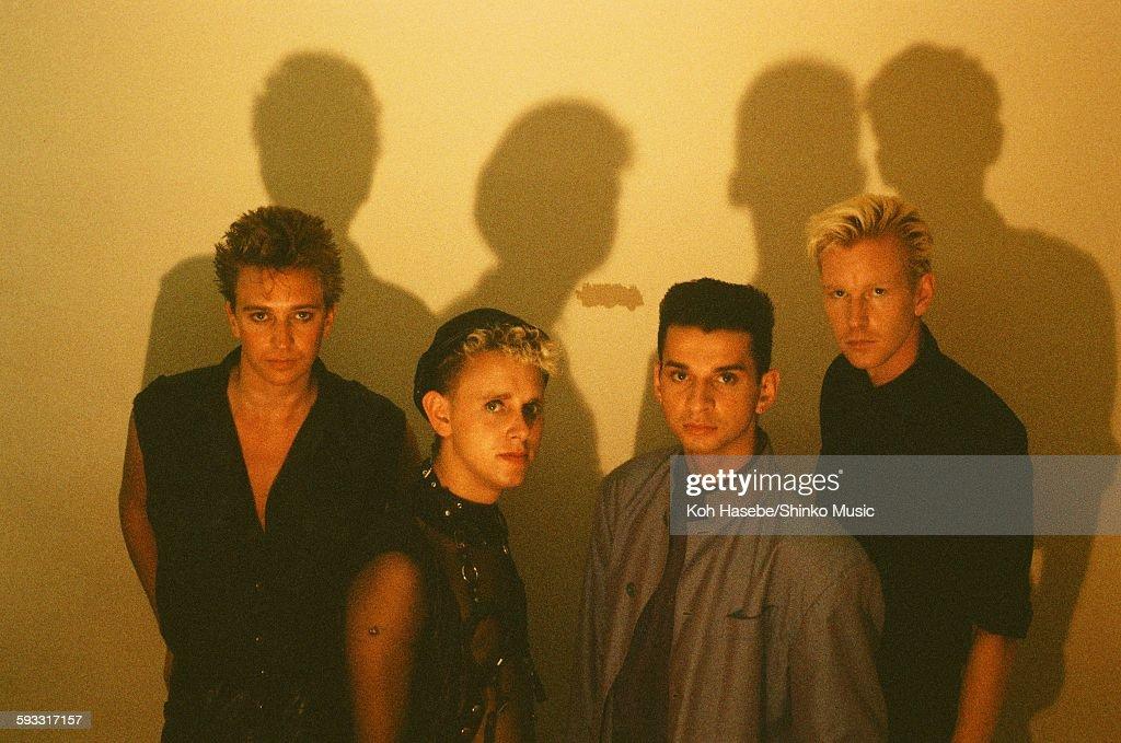 Depeche Mode group shot at studio in Tokyo July 1986