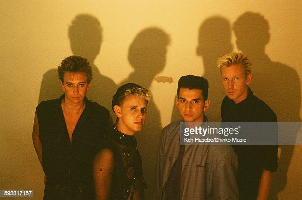Depeche Mode group shot at studio in Tokyo July 1986