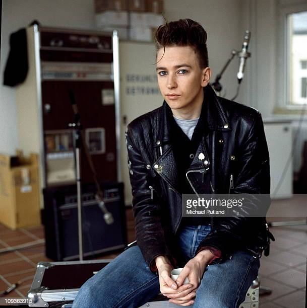 Depeche Mode in recording studio during the making of the Some Great Reward album Berlin July 1984 Alan Wilder