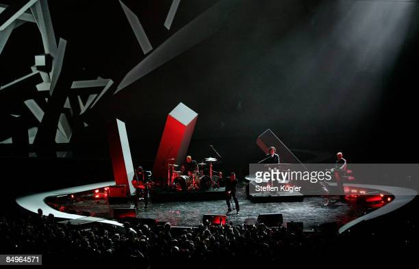 Depeche Mode performe live on stage during the 2009 Echo Music Award Show in Berlin Germany February 21 2009