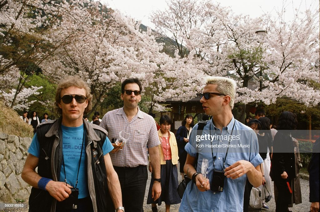 Depeche Mode strolling around Higashiyama Kyoto Kyoto April 1985