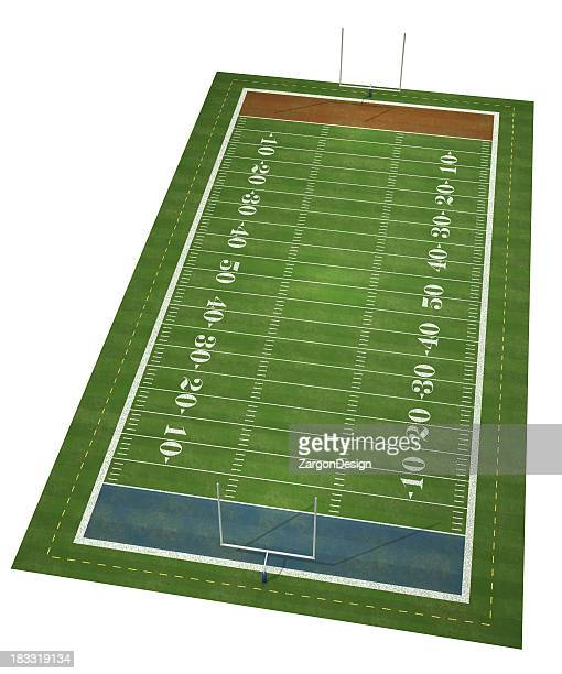 A depiction of an American football field