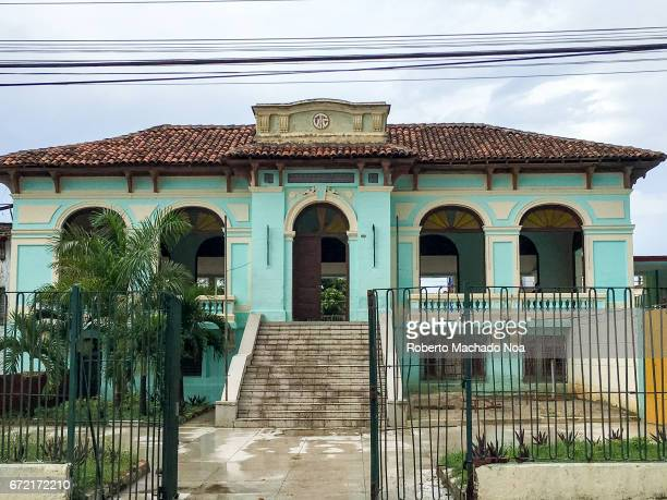 'CV Deportivo' Cuban colonial architecture building exterior in city The place is used for the practice of several sports by children They are...