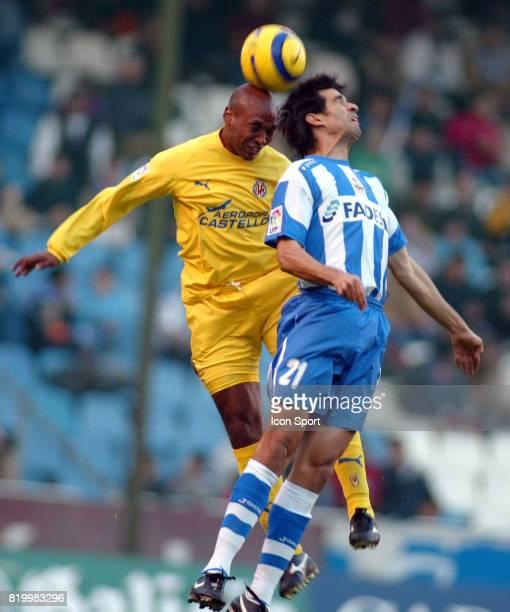 SENNA / VALERON Deportivo la Corogne / Villarreal 13eme Journee de Liga