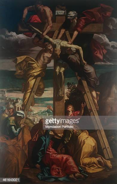 Deposition of Christ by Giuseppe Mazzuoli also known as Bastarolo ca 1579 1581 16th Century oil on canvas 436 x 281 cm Italy Emilia Romagna Ferrara...