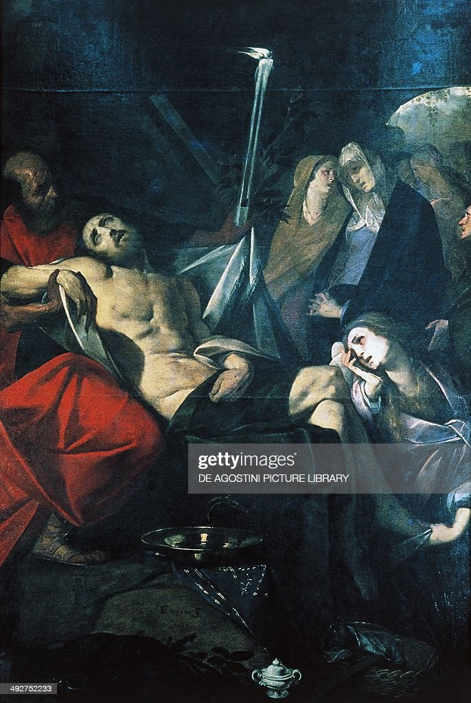 Deposition of Christ in the Sepulchre, 1610, by Giovan Battista Crespi called Cerano (ca 1575-1632), oil on canvas, 280x194 cm. Novara, Museo Civico