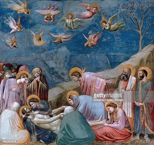 Deposition of Christ or 'Lamentation' a fresco by Florentine painter Giotto di Bondone Circa 13041306