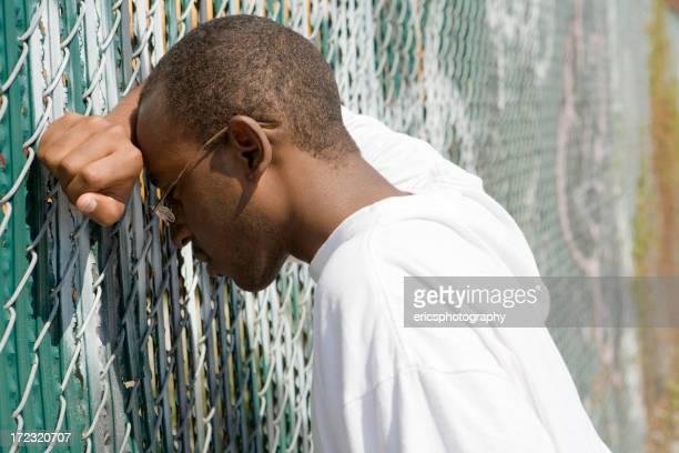 Depressed black teenager