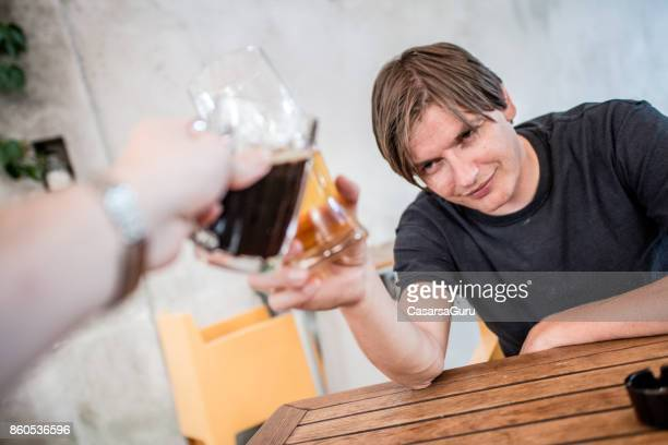 Depressed  Mid Adult Man Having A Drink At The End Of The Working Day