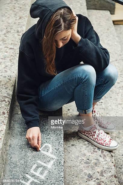 Ein deprimierter teen Mädchen