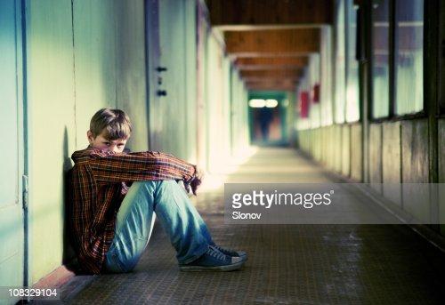 Depressed teenager : Stock Photo