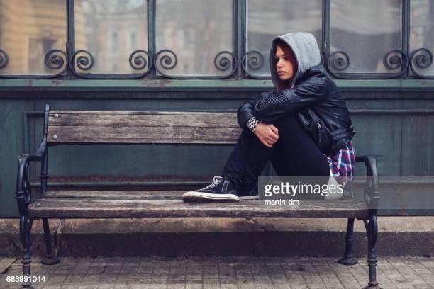 Depression bei Mädchen im Teenageralter