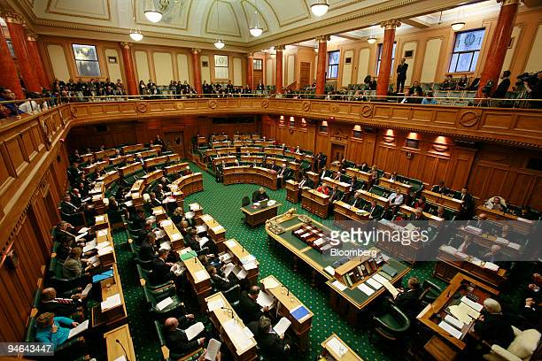 Deputies debate after the 2006 budget reading to the parliament in Wellington New Zealand Thursday May 18 2006 New Zealand's government will...