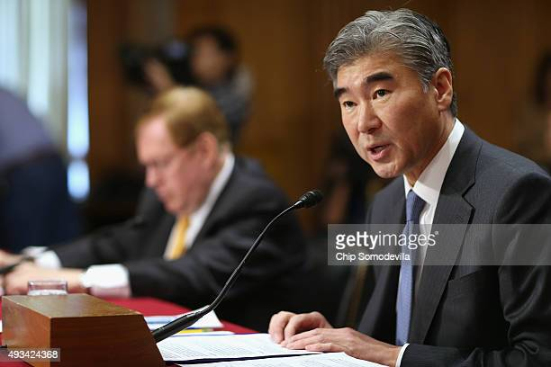 Deputy Assistant Secretary of State for Korea And Japan Sung Kim testifies before the Senate Foreign Relations Committee in the Dirksen Senate Office...