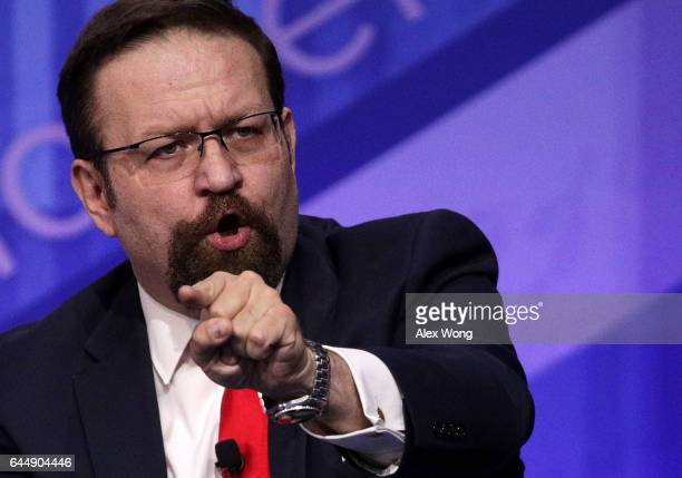 Deputy assistant to President Trump Sebastian Gorka participates in a discussion during the Conservative Political Action Conference at the Gaylord...