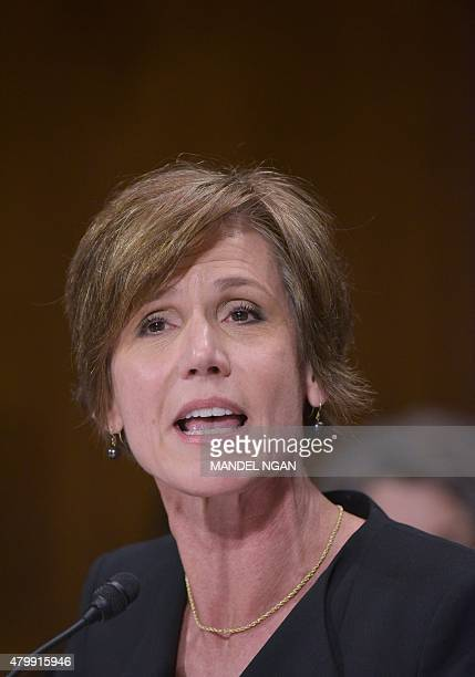 Deputy Attorney General Sally Quillian Yates testifies before the Senate Judiciary Committee hearing on Going Dark Encryption Technology and the...