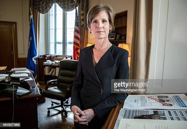 Deputy Attorney General Sally Yates in her office at the Justice Department May 15 in Washington DC Yates who was confirmed by the Senate yesterday...