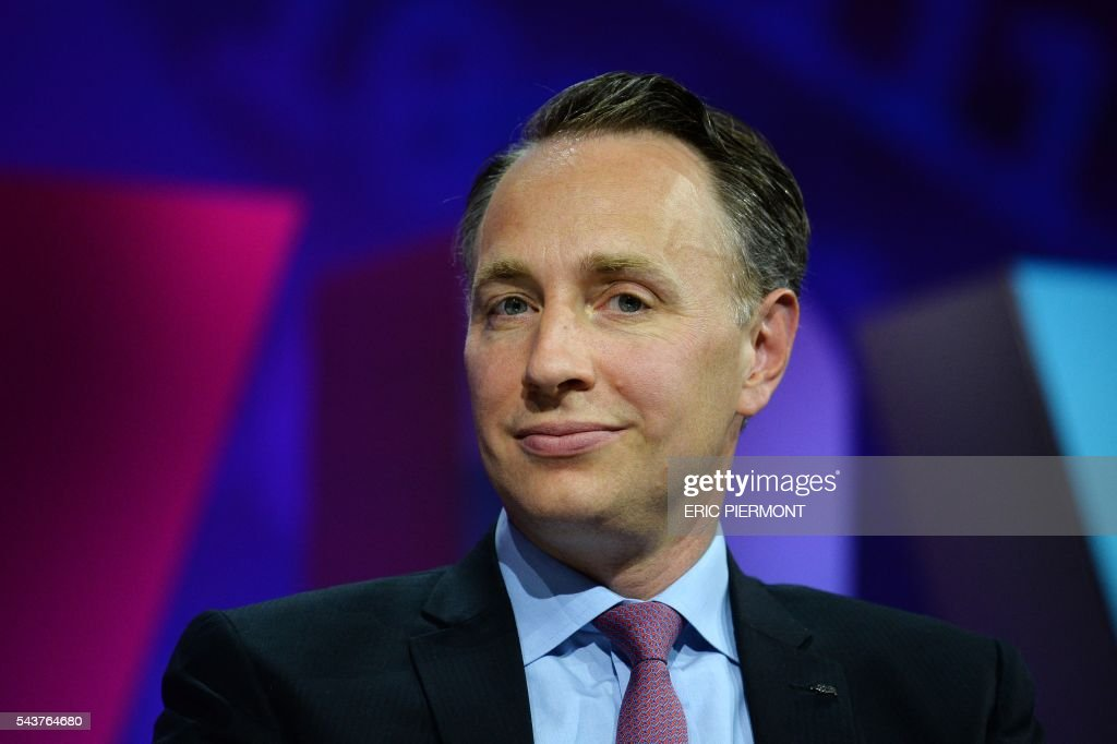AXA Deputy CEO and incoming CEO Thomas Buberl attends a session at the Viva Technology event in Paris on June 30, 2016. / AFP / ERIC
