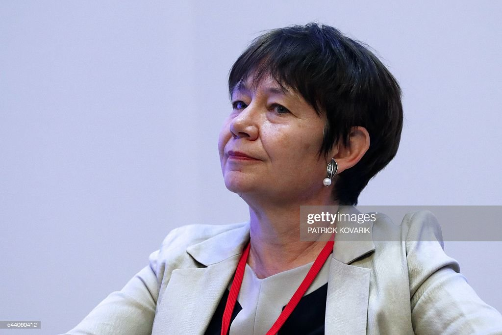 Deputy chairman of French public investment bank La Caisse des Depots (CDC) and Secretary General of Club de Paris Odile Renaud-Basso looks on during 60th anniversary of the Paris Club, on July 1, 2016 in Paris. KOVARIK