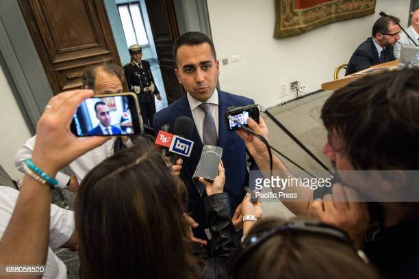 Deputy Chairman of the Chamber of Deputies Luigi Di Maio during the Conference organized by the 5 Star Movement on Economic Development and...