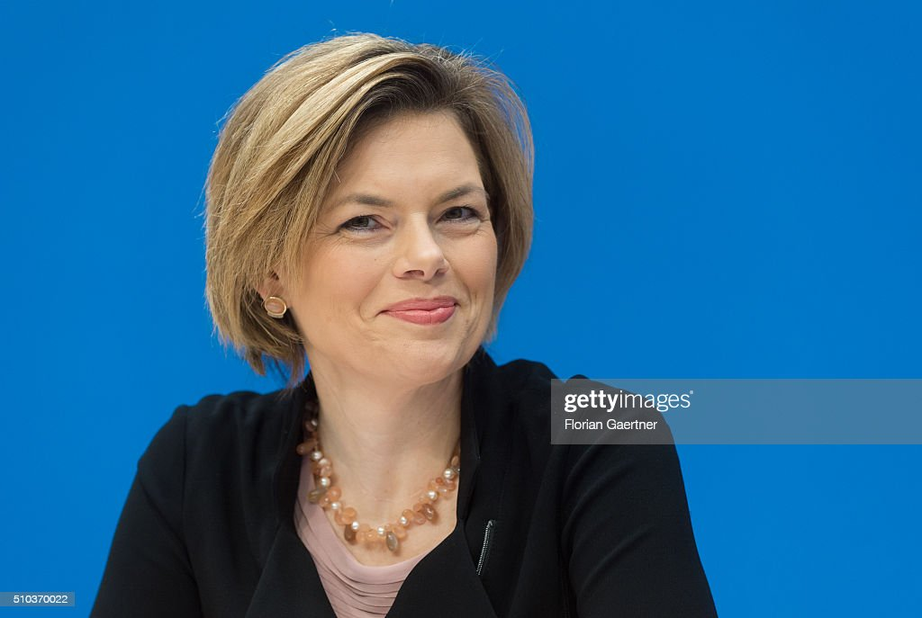 Deputy chairwoman of CDU party <a gi-track='captionPersonalityLinkClicked' href=/galleries/search?phrase=Julia+Kloeckner&family=editorial&specificpeople=6902085 ng-click='$event.stopPropagation()'>Julia Kloeckner</a> during a press conference on February 15, 2016 in Berlin.