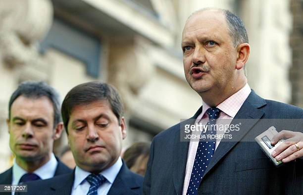 Deputy Chief Superitendent Chris Stevenson as Detective Chief Inspector Andy Hebb listens as he speaks to the media after Ian Huntley was sentenced...