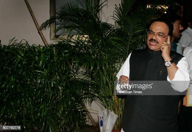 Deputy CM Chhagan Bhujbal at Finance Minister Sunil Tatkares Malabar Hill residence