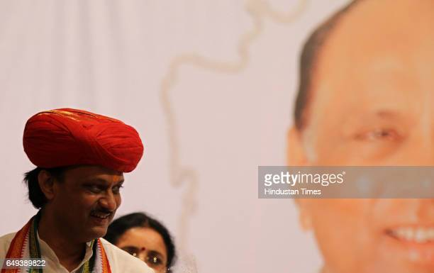Deputy CM of Maharashtra Ajit Pawar at felicitation ceremony organised by Maharashtra Pradesh Nationalist Congress Party at YB chavan