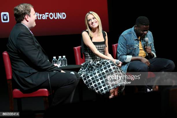 Deputy Culture Editor at BBCcom and event moderator Christian Blauvelt speaks with actors Allison Williams and Daniel Kaluuya when they attend...