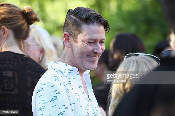 Deputy editor at Daily Front Row Eddie Roche attends Daily Front Row's 'Luxury and Love' party at Inn at Windmill Lane on August 20 2016 in...