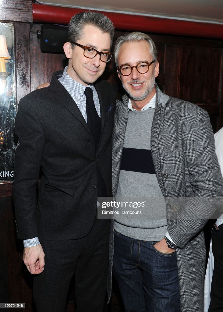 GQ Deputy Editor Michael Hainey (L) and designer Michael Bastian attend GQ's The Style Guy party at The Beatrice Inn on November 19, 2012 in New York City.