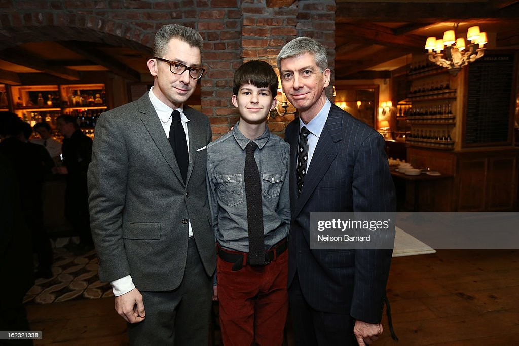 GQ Deputy Editor/author Michael Hainey and brother Christopher Hainey attend the GQ 'After Visiting Friends' book party on February 21, 2013 in New York City.