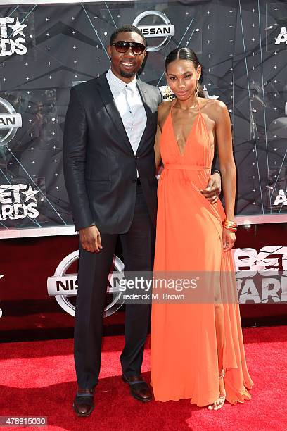 Deputy Executive Director Player Relations at National Basketball Players Association Roger Mason Jr and Dominique Mason attend the 2015 BET Awards...