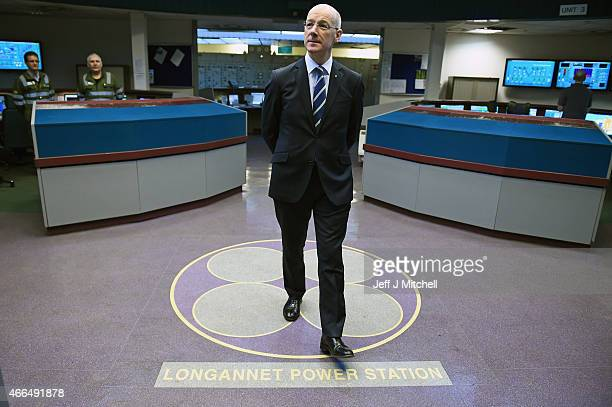 Deputy First Minister John Swinney visits Longannet Power Station on March 16 2015 in Clackmannan Scotland Mr Swinney stressed that there is a need...