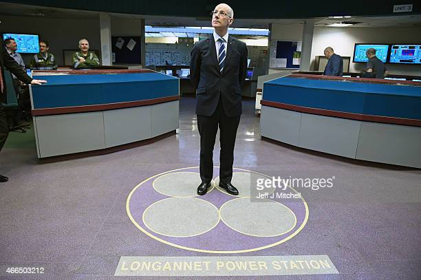 Deputy First Minister John Swinney visits the Longannet Power Station control room on March 16 2015 in ClackmannanScotland The Deputy First Minister...