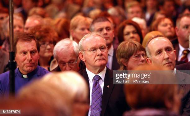 Deputy First Minister Martin McGuinness attends a Requiem service at St Anne's Church of Ireland Cathedral in Belfast on the anniversary of the...