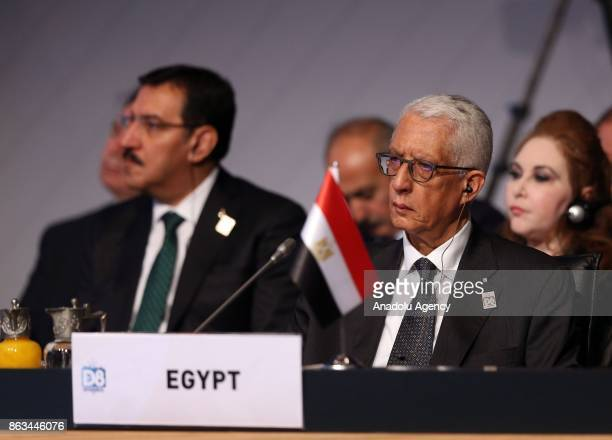 Deputy Foreign Minister of Egypt Hamdi Loza attends the 9th D8 Organization for Economic Cooperation Summit in Istanbul Turkey on October 20 2017