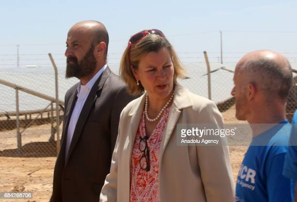 Deputy High Commissioner for Refugees at UNHCR Kelly Clements attends the opening ceremony of a new solar power plant project by IKEA Foundation at...