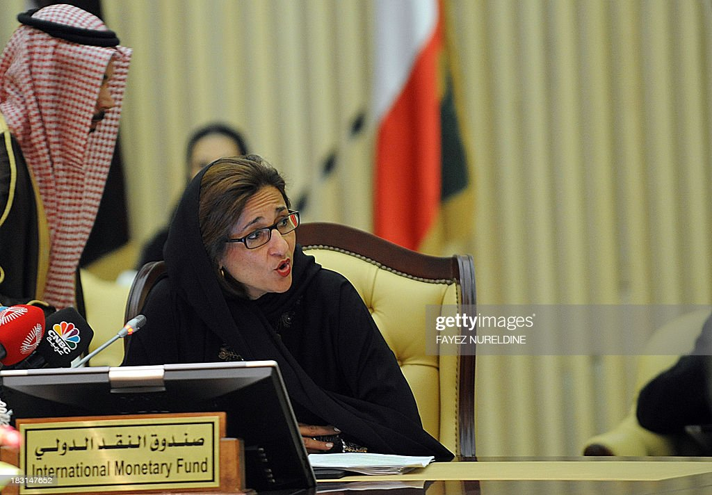 Deputy IMF managing director Nemat Shafik attends the Gulf Cooperation Council (GCC) finance ministers meeting in Riyadh on October 5, 2013.
