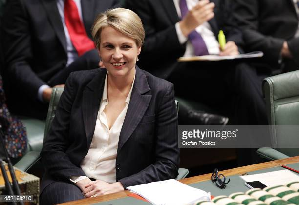 Deputy Leader of the Opposition Tanya Plibersek attends Question Time at Parliament House on July 15 2014 in Canberra Australia A vote on the...