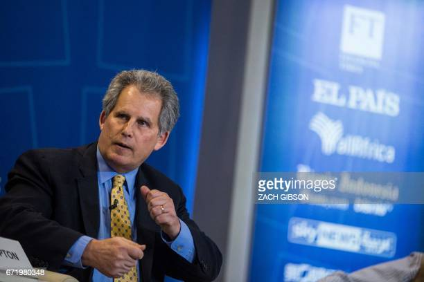 IMF Deputy Managing Director David Lipton speaks during a panel discussion on the effects of digitalization and technology on fiscal policy and...