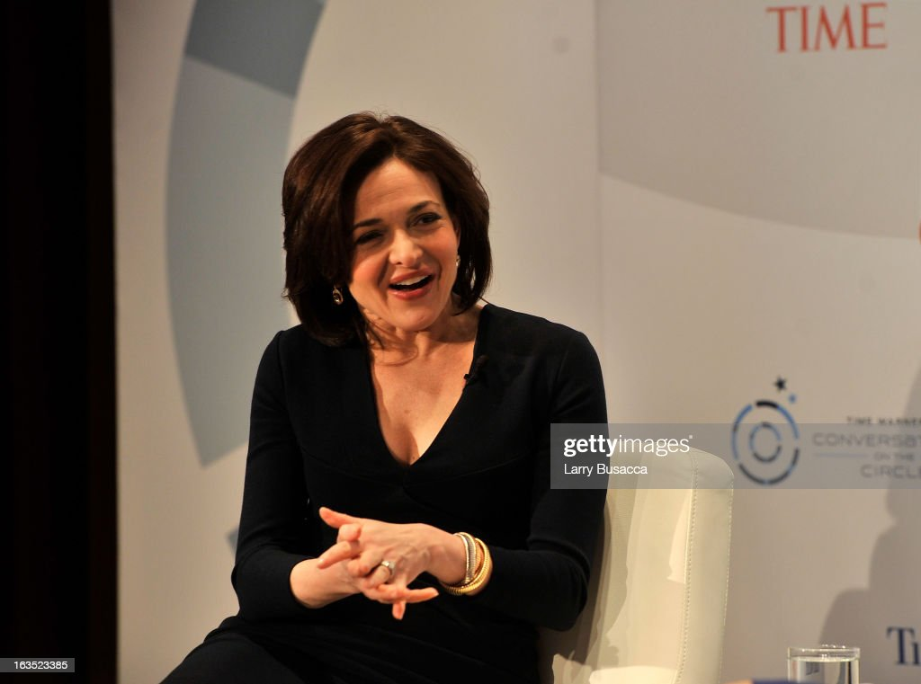 Deputy Managing Editor TIME, Nancy Gibbs, and Chief Operating Officer Facebook, Sheryl Sandberg speak at Time Warner's Conversations on the Circle on March 11, 2013 in New York City.
