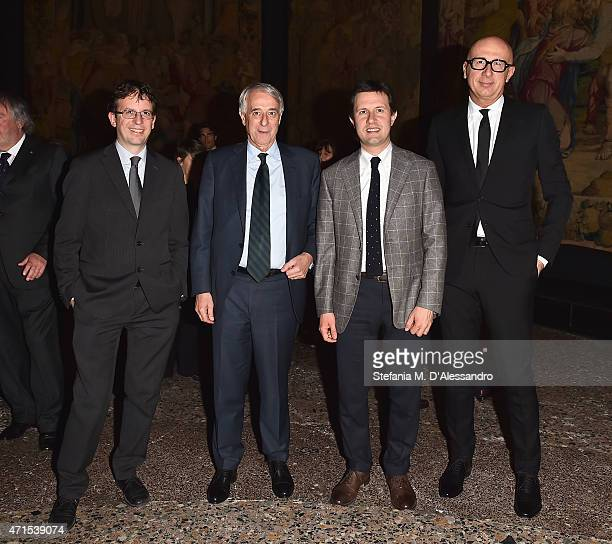 Deputy Mayor for Culture Filippo Del Corno Mayor of Milan Giuliano Pisapia Mayor of Florence Dario Nardella and Gucci President and CEO Marco...