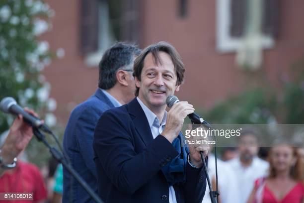 Deputy Mayor of Rome Luca Bergamo during 80th anniversary celebration of the gas plant in Rome in the presence of the deputy mayor of Rome Luca...