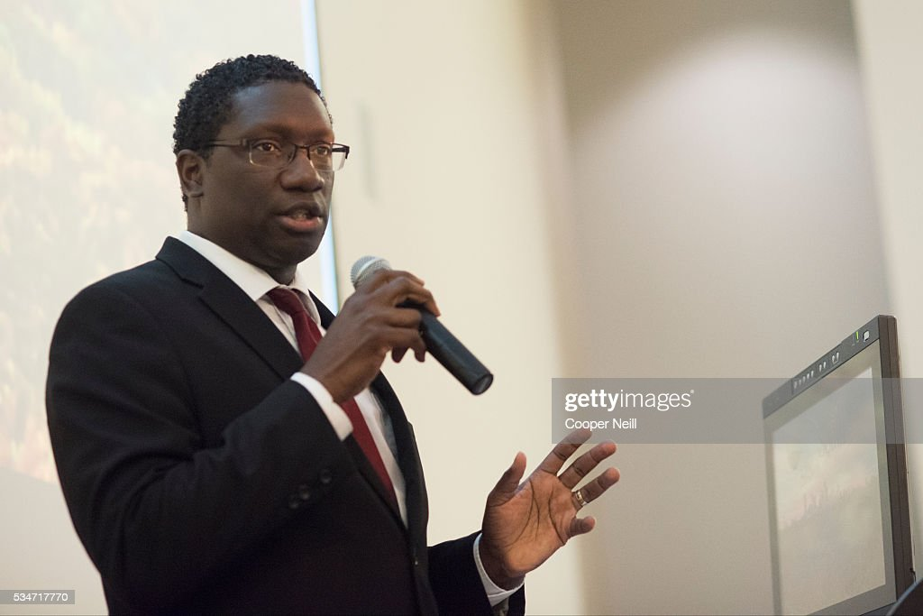 Deputy Mayor Pro Tem Erik Wilson speaks during the Neighbor Up news conference at UNT Dallas on May 27, 2016 in Dallas, Texas.