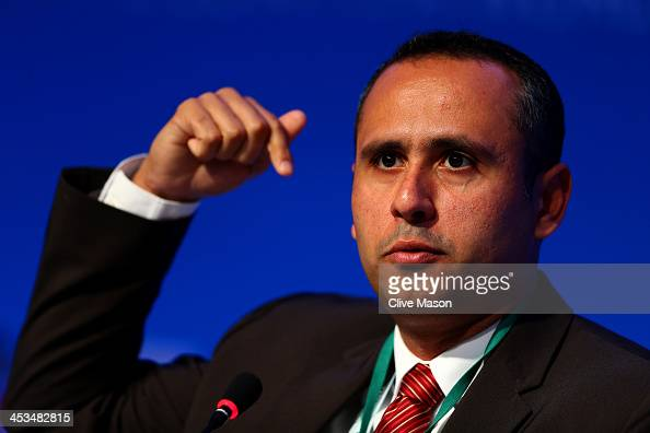 Deputy Minister of Communications Genildo Lins attends a press conference during a media day ahead of the Final Draw for the 2014 FIFA World Cup at...