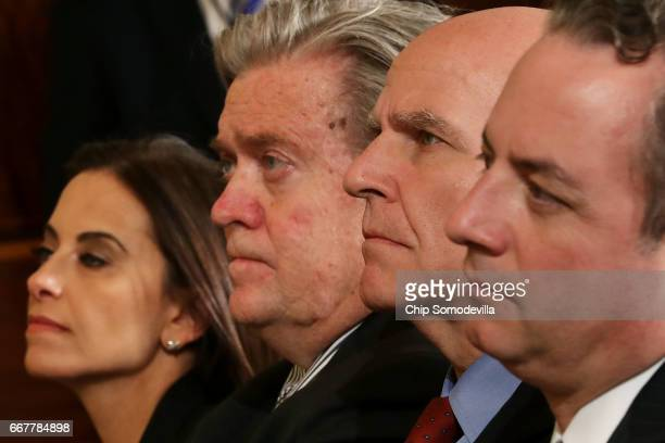 Deputy National Security Advisor for Strategy Dina Powell White House Chief Strategist Steve Bannon National Security Advisor HR McMaster and White...