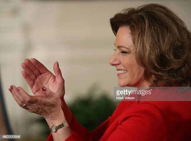 Deputy National Security Advisor KT McFarland attends an event celebrating Women's History Month in the East Room at the White House March 29 2017 in...